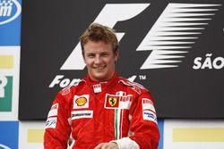 Kimi Raikkonen, Ferrari op het podium