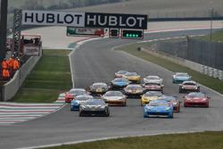 Start action Ferrari 458 Worldfinal