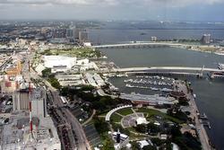 Vista de la pista y Miami