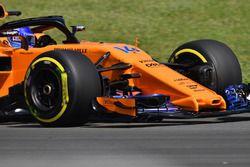 Fernando Alonso, McLaren MCL33 morro y ala delantera