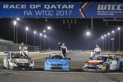 Thed Björk, Polestar Cyan Racing, Volvo S60 Polestar TC1, Norbert Michelisz, Honda Racing Team JAS, Honda Civic WTCC, Tom Chilton, Sébastien Loeb Racing, Citroën C-Elysée WTCC