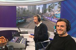 UPC MySports, Herbert Zimmermann, Formel-E-Journalist, und Fabio Leimer, Formel-E-Kommentator