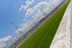 Tyler Reddick, JR Motorsports, Chevrolet Camaro Takl, Austin Cindric, Team Penske, Ford Mustang Menards/Mastercraft Doors, Toyota Camry pace car