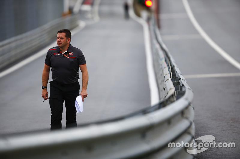 Peter Crolla, manager de l'équipe Haas