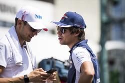 Esteban Ocon, Force India and Lance Stroll, Williams Racing