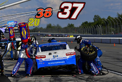 Chris Buescher, JTG Daugherty Racing, Chevrolet Camaro Kleenex Wet Wipes makes a pit stop, Sunoco