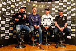 Себастьен Лёб, Team Peugeot Total, Йохан Кристофферссон, PSRX Volkswagen Sweden, Маттиас Экстрём, EKS Audi Sport, и Герлан Шишери, GCK RX