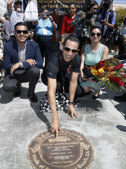 Long Beach Walk of Fame inductee Helio Castroneves