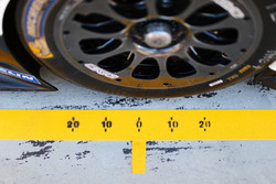 Michelin tyre detail in the pits