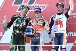 Podium: second place Johann Zarco, Monster Yamaha Tech 3, Race winner Dani Pedrosa, Repsol Honda Tea
