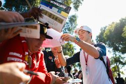 Pierre Gasly, Toro Rosso, signs an autograph
