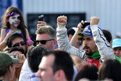 Lucas di Grassi, Audi Sport ABT Schaeffler, viert feest op het podium