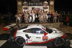 GTLM podium: winners Patrick Pilet, Nick Tandy, Frédéric Makowiecki, Porsche Team North America
