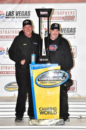 Kyle Busch, Kyle Busch Motorsports, Toyota Tundra Cessna wins and Mike Hillman Sr. and Mike Hillman Jr
