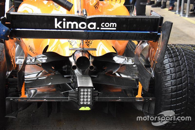 McLaren MCL33, detalle trasero