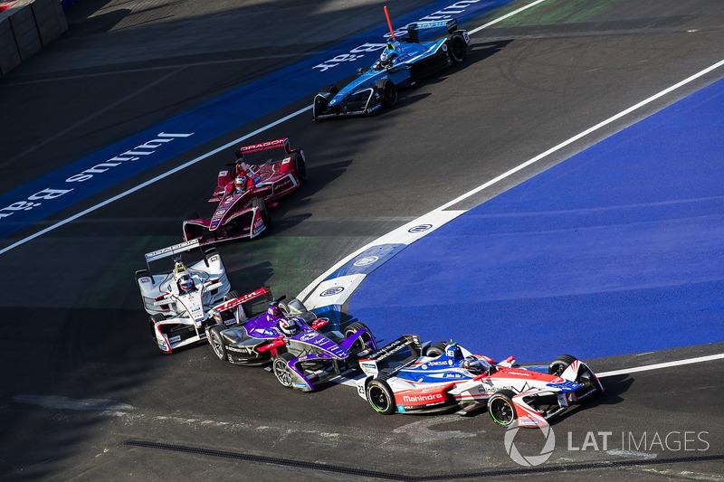 Nick Heidfeld, Mahindra Racing Alex Lynn, DS Virgin Racing & Jose Maria Lopez, Dragon Racing