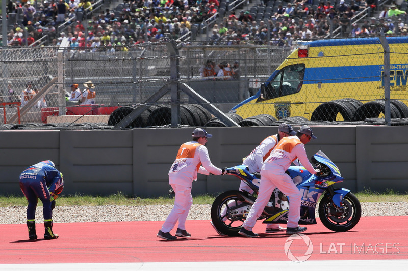 Crash of Alex Rins, Team Suzuki MotoGP