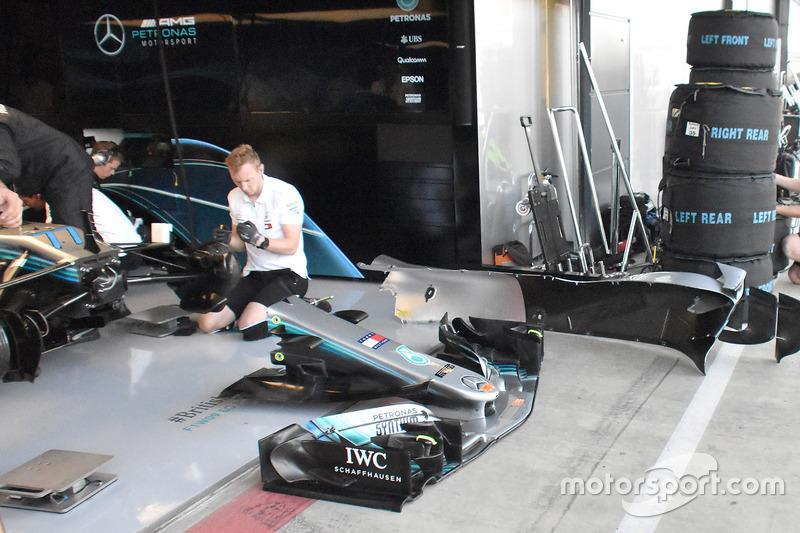 Alerón delantero del Mercedes AMG F1 W09