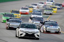 Noah Gragson, Kyle Busch Motorsports, Toyota Tundra Safelite AutoGlass, Todd Gilliland, Kyle Busch Motorsports, Toyota Tundra Mobil 1, pace car