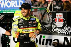 Matt Crafton, ThorSport Racing, Ford F-150 Rip It/ Menards congratulates Ben Rhodes, ThorSport Racing, Ford F-150 Alpha Energy Solutions in victory lane