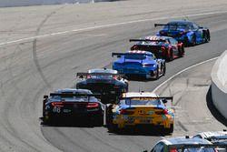 #86 Michael Shank Racing with Curb-Agajanian Acura NSX, GTD: Katherine Legge, Alvaro Parente, #96 Turner Motorsport BMW M6 GT3, GTD: Robby Foley, Bill Auberlen