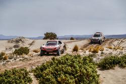 #308 Peugeot Sport Peugeot 3008 DKR: Cyril Despres, David Castera, #307 X-Raid Team Mini: Orlando Terranova, Bernardo Graue