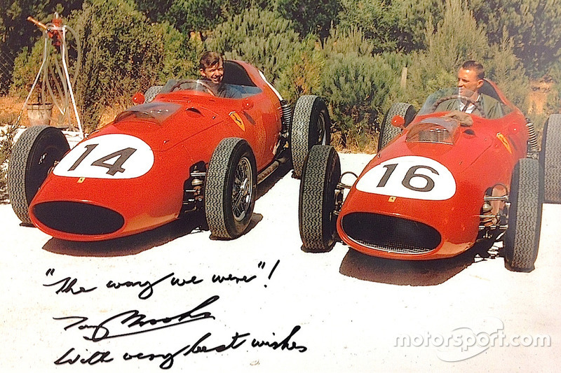 Tony Brooks ve Dan Gurney, Ferrari 246 Dino 1959