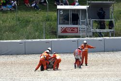 Andrea Dovizioso, Ducati Team after the crash