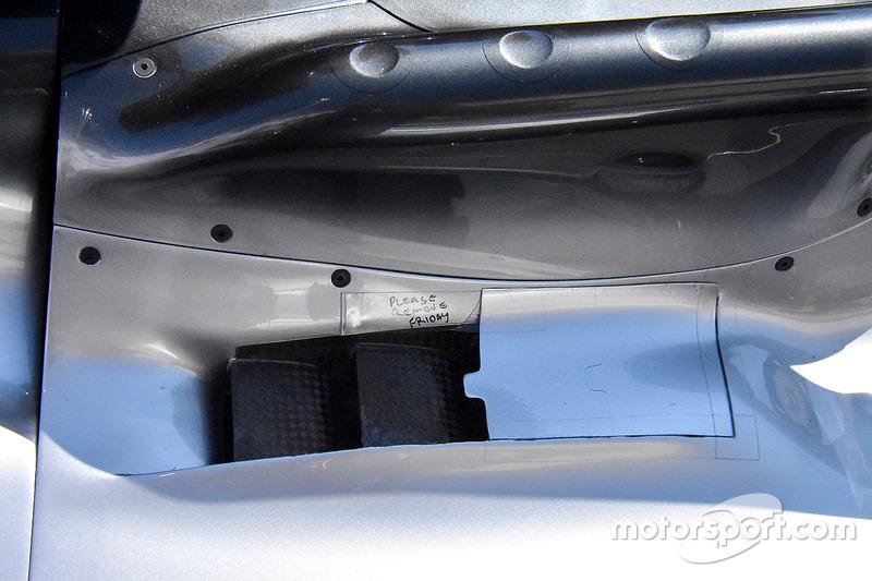 Vue détaillée de laMercedes AMG F1 W09