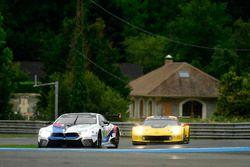 #82 BMW Team MTEK BMW M8 GTE: Antonio Felix da Costa, Alexander Sims, Augusto Farfus, #64 Corvette Racing Chevrolet Corvette C7.R: Oliver Gavin, Tommy Milner, Marcel Fassler