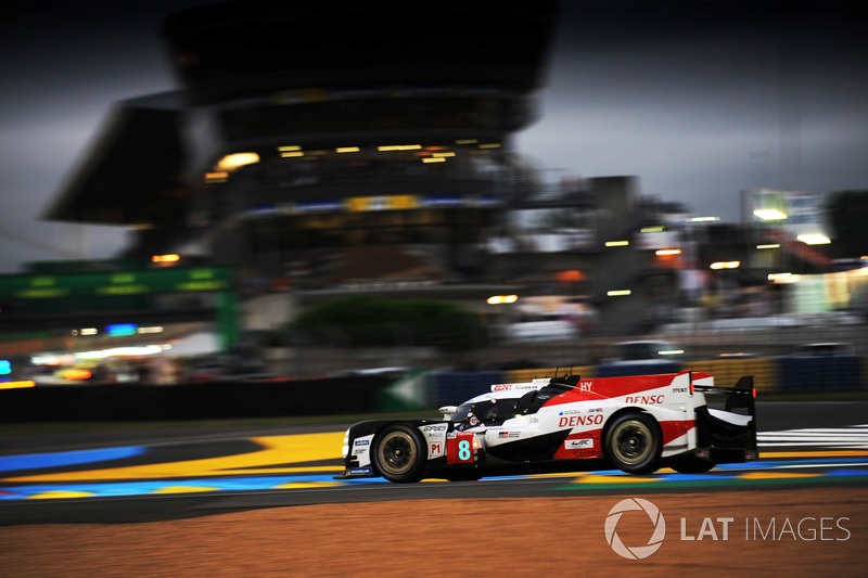 1: #8 Toyota Gazoo Racing Toyota TS050: Sebastien Buemi, Kazuki Nakajima, Fernando Alonso, 3'15.377