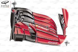 Ferrari SF71H new front wing
