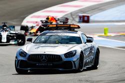 The Safety Car leads Lewis Hamilton, Mercedes AMG F1 W09