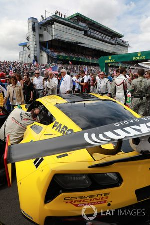 #63 Corvette Racing Chevrolet Corvette C7.R: Jan Magnussen, Antonio Garcia, Mike Rockenfeller on the grid
