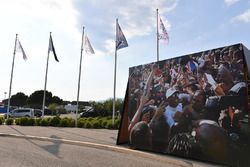 Flags and Lewis Hamilton, Mercedes-AMG F1 image