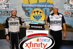Race winner Tyler Reddick, Chip Ganassi Racing with crew chief Mike Shiplett