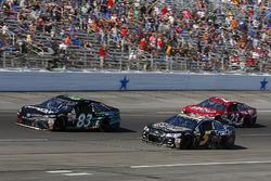 Gray Gaulding, BK Racing Toyota, Kasey Kahne, Hendrick Motorsports Chevrolet and Corey LaJoie, BK Ra