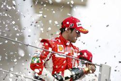 Podium: tweede Felipe Massa, Ferrari