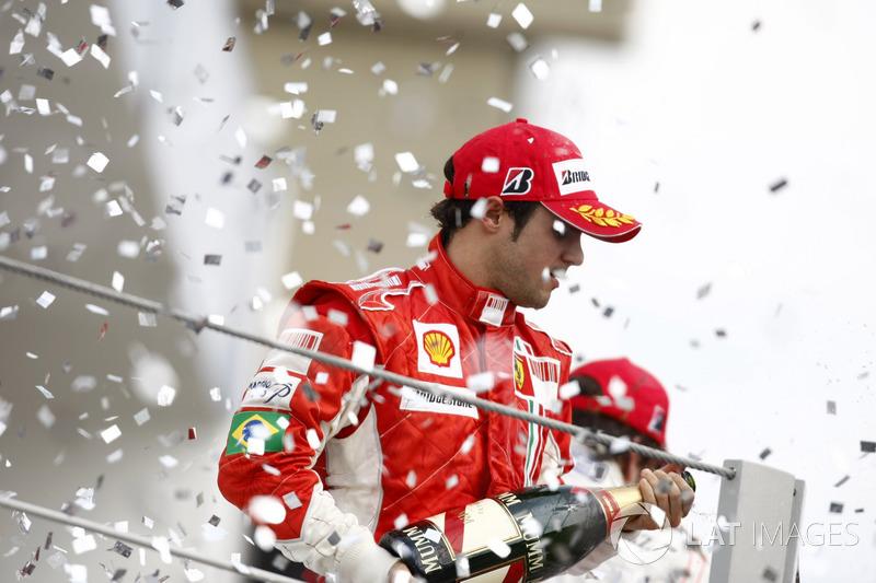 Podio: segundo lugar Felipe Massa, Ferrari