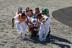 Crash, Eugene Laverty, Milwaukee Aprilia