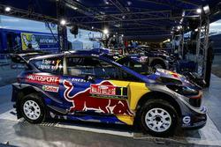 The car of Sébastien Ogier, Julien Ingrassia, Ford Fiesta WRC, M-Sport