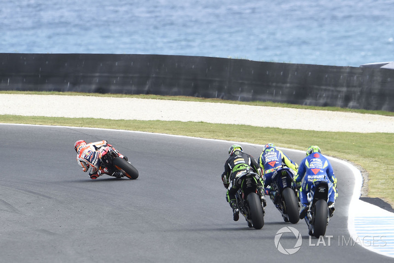 Marc Marquez leads the pack