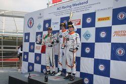 Podio Gara 2: Nicolò Liana, Seat Motor Sport Italia, Matteo Zucchi, Seat Motor Sport Italia, Guido S