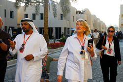 Martha Stewart and Al Tareq Al Ameri, CEO of Yas Marina Circuit