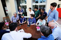 Sergio Perez, Sahara Force India F1 with media