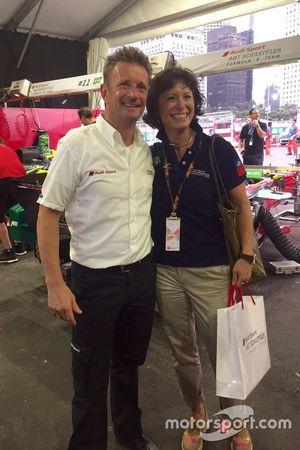 Monika Schreiner, LGT Group, mit Allan McNish, responsabile Audi Sport