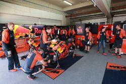 Pol Espargaro's KTM garage