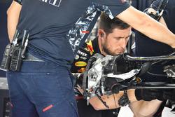 Detalle del freno del RB13 de Red Bull Racing