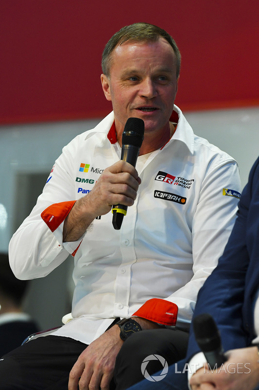 Tommi Makinen talks to Henry Hope-Frost on the Autosport Stage