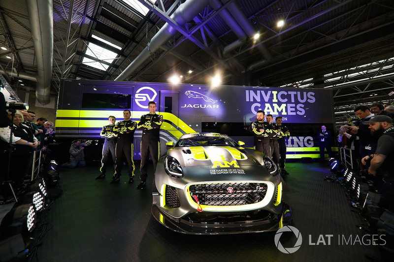 The Invictus Games Jaguar F-Type GT4